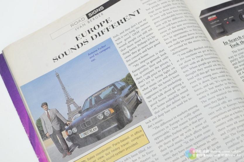 這本雜誌專訪Antoine的文章,聊的是歐洲與美國的聲音品味差異。
