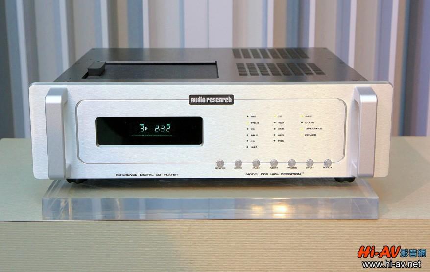 前端搭配的數位訊源為Audio Research同廠的旗艦CD唱盤Reference 9。