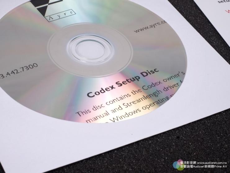 光碟內容主要是Codex的驅動程式安裝設定檔。