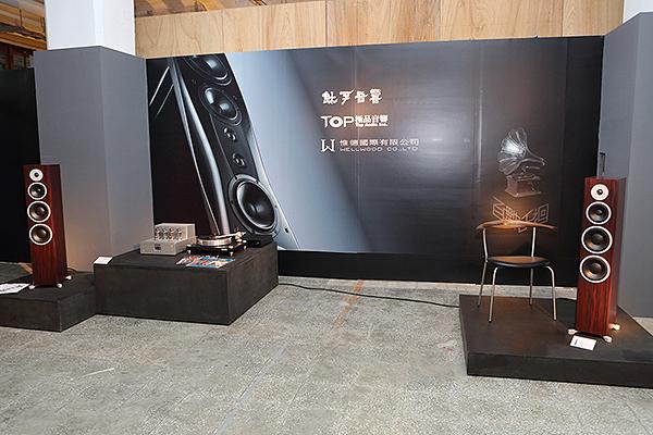鈦孚、極品音響這次也配合主辦單位,以黑膠為主軸,展出自家代理的音響器材。