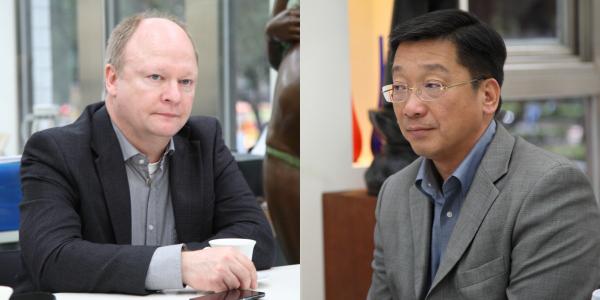 負責亞洲區業務的Anker Haldan(圖左)和亞洲區執行董事周永雄(圖右),這次也隨同Wilfried Ehrenholz訪台。
