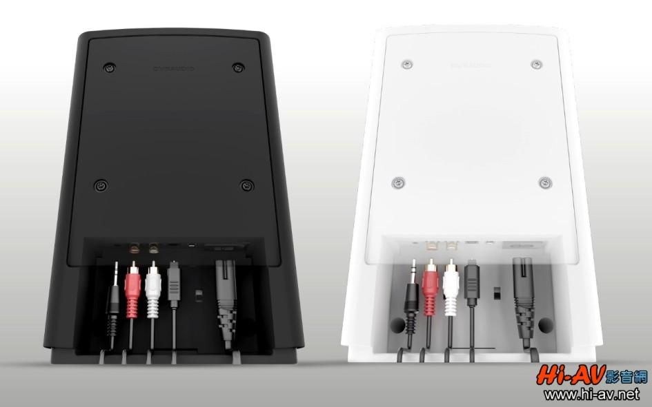 從這張黑白兩款Xeo 2主喇叭的接線示意圖,一眼就可發現其輸入端子十分豐富:最左側是3.5mm類比輸入插孔,再來是一對RCA同軸類比輸入,在其右邊的Toslink光纖則可對應最高192kHz的數位輸入。如果使用行動裝置透過藍牙無線傳輸,音樂訊號也是傳輸到主喇叭,當主喇叭收到訊號時,就會以數位訊號無線傳輸至副喇叭。