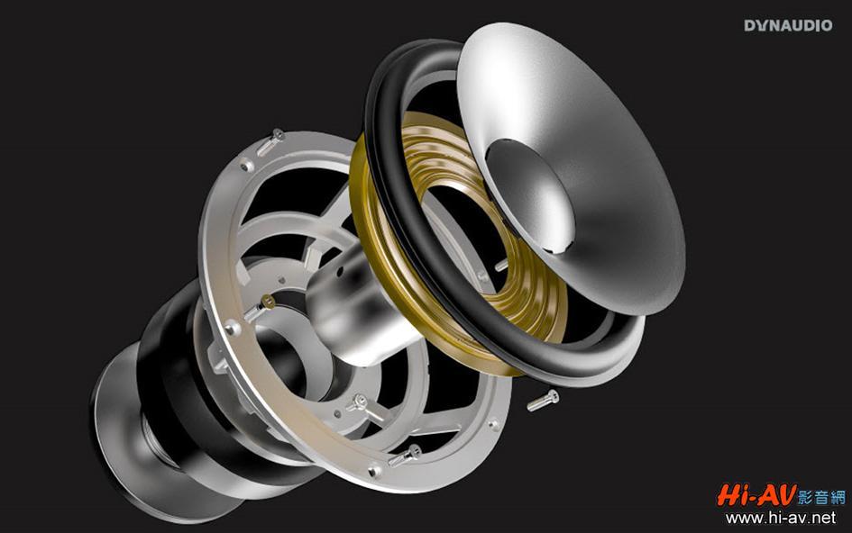 全新Contour系列的中音與低音單體為全新開發,連喇叭端子都是以前Dynaudio未曾使用過的WBT。尤其新設計的MSP振膜有著不均勻的厚度,也對其彎曲曲線進行優化,能大幅提高動作時的穩定不變形並增進擴散性。